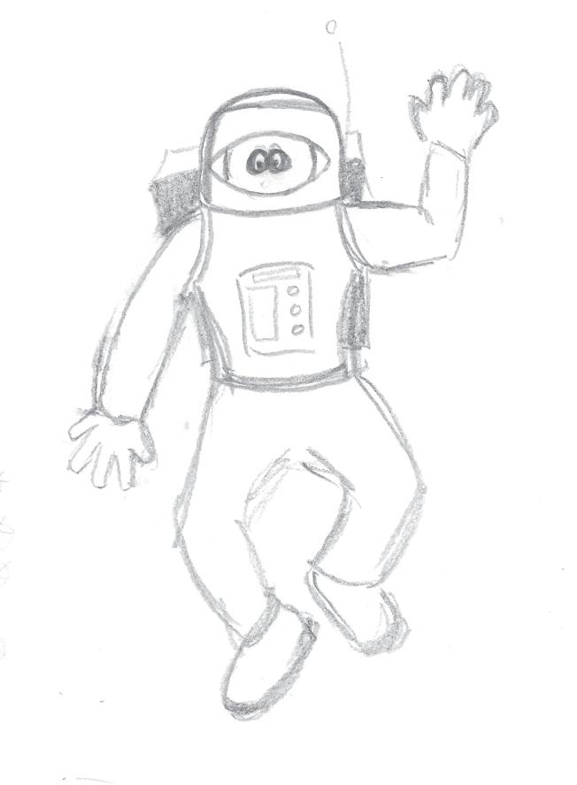 spaceman sketch